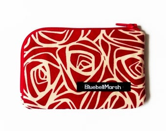 Rose coin purse, red