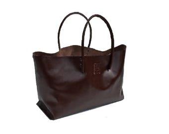 XXL shopper, Ledershopper, large leather bag, Brown Ledershopper, brown leather bag, shopping bag for shopping, Brown handmade