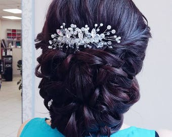 Decorative comb, Bridal comb, Comb, Hair comb, Bridal hairpiece, Head piece, Wedding comb, Hair accessories,Bridal hair piece