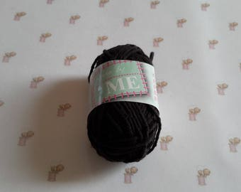 Mini amigurumi canvas black crochet cotton yarn