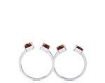 Rajasthan Garnet Ring in Sterling Silver 3.95CTS By Gemporia