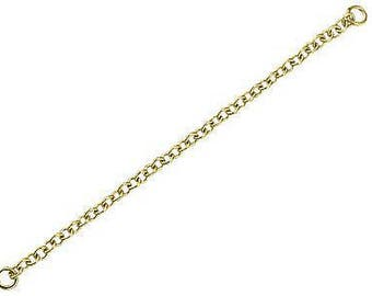 Safety chain 1.2 mm solid yellow gold bracelet 18 k. France 750 gold
