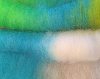 Alpaca fiber batts - Custom made/dyed.