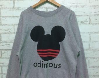 Vintage adimous crewneck sweatshirt Adult Large size