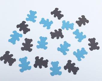 200 Teddy Bear Confetti Bear Confett Baby Shower Confetti Birthday Confetti Shower Confetti Teddy Bear Blue Brown Pink Bear Confetti