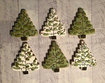 Vintage Christmas Tree Cookies