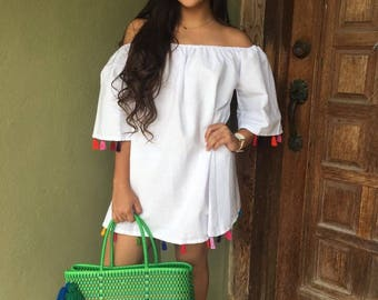 Mexican Blouse, Resort Wear, Tunic/Coverup