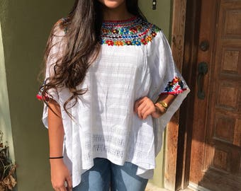 Mexican Blouse, Guatemalan Huipil, Resort Wear
