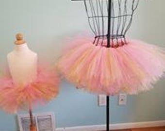 Pink and glitter gold tutu