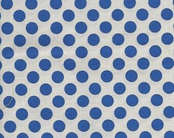 "Cotton Fabric    ""Blue Dots""        Remnant"