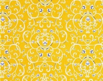 "Penny Rose Fabrics ""Meadow Sweets"" Vine  by Jill Finley    Yellow"
