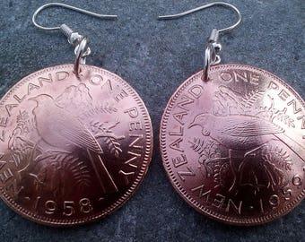 Domed New Zealand Penny's earrings