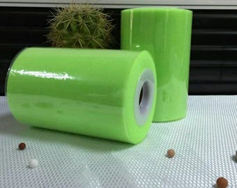 Tulle roll high quality green fluorescent light 15 cm x 82 m tutu and decoration