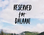 Reserved for DaLaaNi