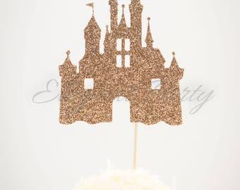 castle, cupcake toppers,cake topper,cake topper,wedding cake topper,birthday cake decoration,decor, Cinderella, disney, princess
