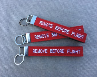 Remove Before Flight Key Fob