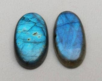 AAA Very Rare 100% Natural Labradorite Gemstone Loose Cabochon Oval Shape Blue Fire Approx  Wholesale Price