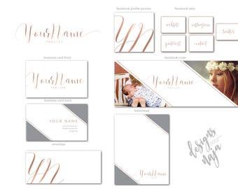 Premade Branding Kit,Branding Package, Elegant Logo, Logo Design,Business Card Design, Facebook Cover, Premade Logo, Photography Logo