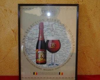 Beer advertising.  Saint Louis Kriek. Signboard for your bar. Vintage. Belgique