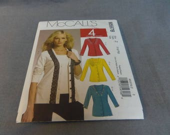 Womens Cardigan and Top, Stretch Knits Only, Size Lge and X Lge (16, 18, 20, 22) Uncut, McCalls M5978, 2009