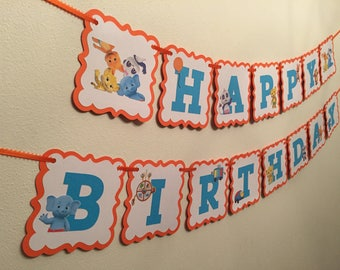 Word Party Birthday Banner