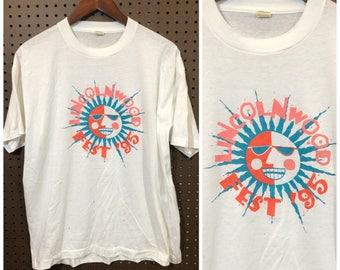 1995 Lincolnwood Fest Shirt Vintage Large - 90s Carnival / Festival