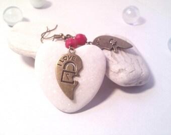 Earrings St Valentine's day love