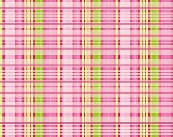 Sale Primavera Plaid in Pink Cotton Fabric by Patty Young for Riley Blake