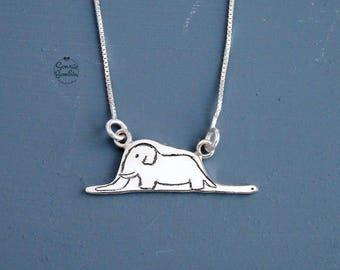 Principito collar / El principito collar plata / Elefante principito Serpiente / elefante boa el principito cuento / Le petit prince