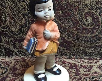 Asian School Girl Figurine