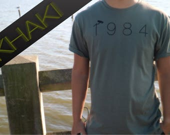Orwell 1984 // Hand Fabric Painted T-Shirt