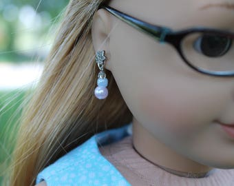 "18"" American Girl Doll Earrings"