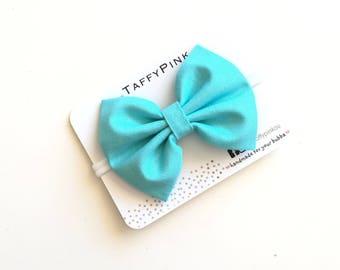 Baby headband | Newborn Headband with bow | designer fabric headband | Baby Photo Prop | Gift Idea - BLUE
