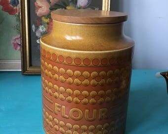 Hornsea Saffron 1960s/1970s Flour Storage Jar
