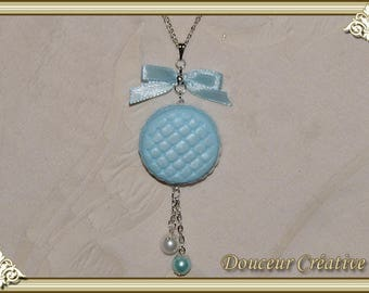 Mother of Pearl blue macaroon 103009 necklace
