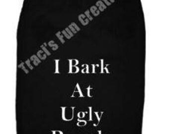I Bark at Ugly People DogTank Top. Small Pet Clothes. Custom Dog Shirts, Bark, People