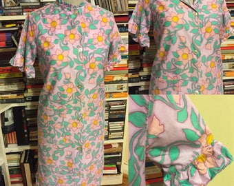 Retro 1980s floral day dress size 12 - 14