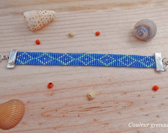 Miyuki seed beads woven bracelet, gift idea party a grand mothers, Easter