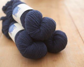 Navy (Semerwater)4 ply worsted spun yarn