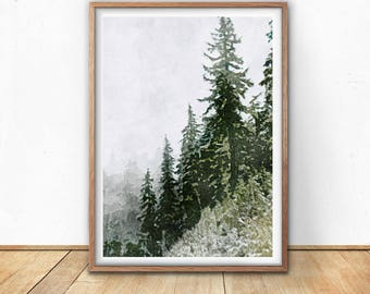 Forest wall art, Forest print, Forest photography, Forest Art, Forest poster, Woodland Prints, Nature Prints, Forest printable, Digital art