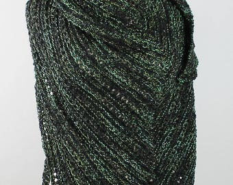 Black and Green Triangle Shawl
