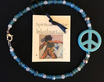 Blue Peace Bracelet