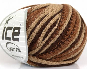 degrade yarn ICE frilly color Brown