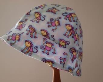 Little Monkey's, Beach hat, Sunhat, Bucket hat, Sunhat, Size 2T - 5T