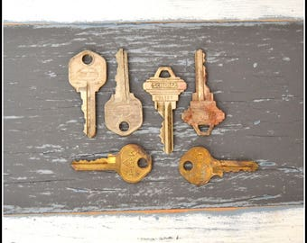 Vintage Keys (6) Old Keys - Vintage Hardware Locksmith Keys - Lot 29