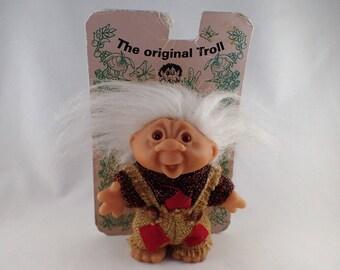 Thomas Dam Troll 1986 5 inches Little Forest Christmas Troll