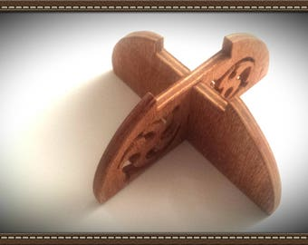 Hand made wooden candle holder