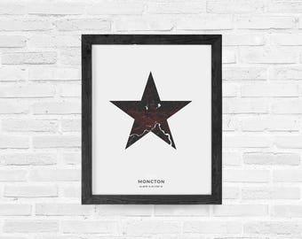 Moncton Star Print