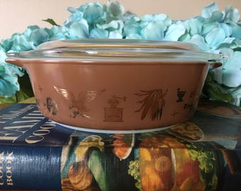 Pyrex Early American Round Casserole 471