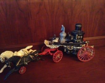 Vintage Horse Drawn Fire Pumper Wagon